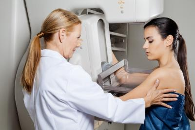 Mammogram procedure to screen for breast cancer