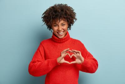 Woman with a healthy heart